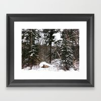 Somewhere In The Halibur… Framed Art Print
