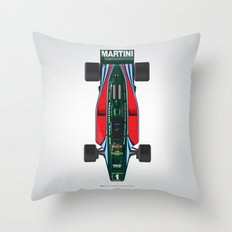 Outline Series N.º2, Mario Andretti, Lotus 80-Ford 1980 Throw Pillow