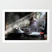The Rice Noodles Maker  … Art Print
