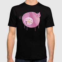 Greedy Pig Mens Fitted Tee Black SMALL