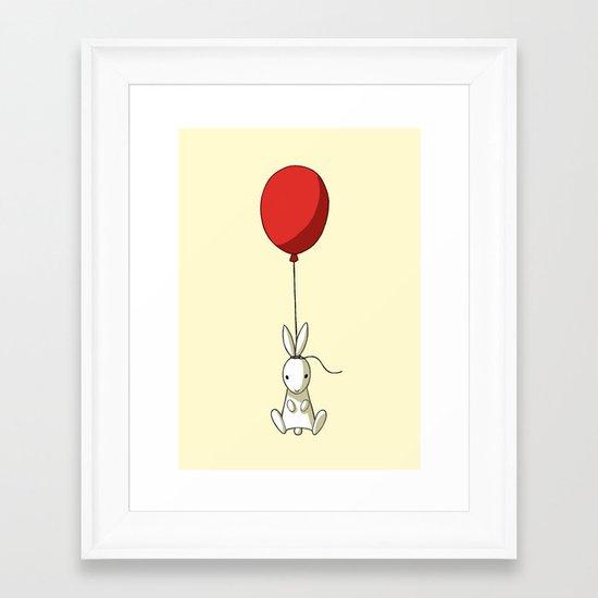 Balloon Bunny Framed Art Print