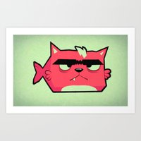 Cat-Fish Art Print