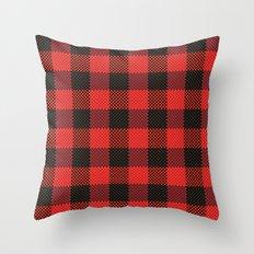Pixel Plaid - Lumberjack Throw Pillow