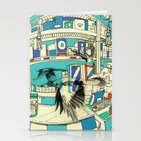 Coffee Bird Stationery Cards