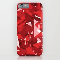 iPhone & iPod Case featuring Abstract Red by Tombst0ne