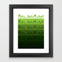 Green palette ultimate Framed Art Print