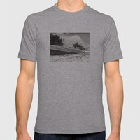 Angry Sea I Mens Fitted Tee Athletic Grey SMALL
