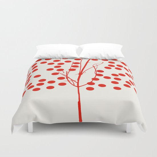 Tree of Life Red Duvet Cover