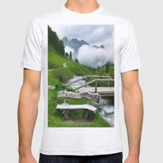 GREEN ART Mens Fitted Tee Ash Grey SMALL