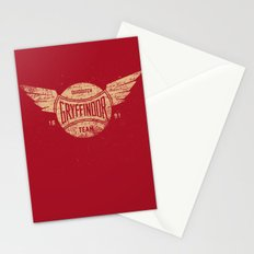 Vintage Gryffindor Quidditch Team Stationery Cards