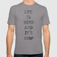 Life is there Mens Fitted Tee Tri-Grey SMALL