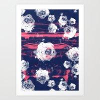 Roses & Skulls Art Print