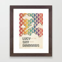 Lucy in the Sky with Diamonds Framed Art Print