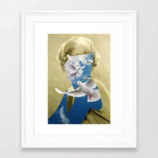 PEACEFUL EASY FEELING Framed Art Print