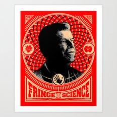 Walter Bishop - Fringe Science (RED) Art Print