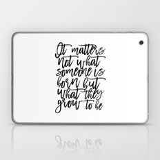 Harry Potter Quote,Baby Print,Kids Room Decor,Children Quote,Kids Gift,Inspiration,Bedroom Decor Laptop & iPad Skin