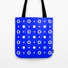 Dots / Blue Tote Bag