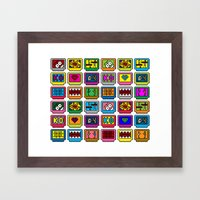 8-bit Game Cartridges Framed Art Print
