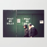 Bills Canvas Print
