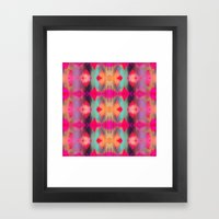 Watercolor Ikat Framed Art Print