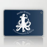MadSea Nymph, white on blue Laptop & iPad Skin