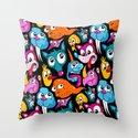 Weird Dudes Pattern Throw Pillow