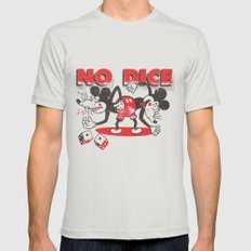 No Dice Mens Fitted Tee Silver SMALL