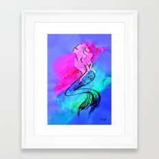 Midnight Mermaid Framed Art Print