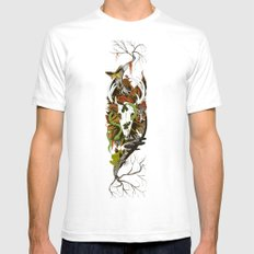 Nature Thrives Mens Fitted Tee SMALL White