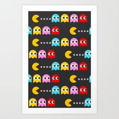 p a c m a n Art Print