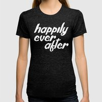 happily ever after Womens Fitted Tee Tri-Black SMALL