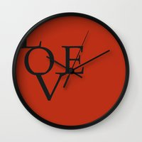 LOVE RED Wall Clock