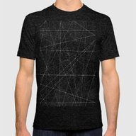 Constellations Mens Fitted Tee Tri-Black SMALL