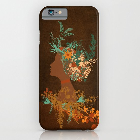 Mujer floral iPhone & iPod Case