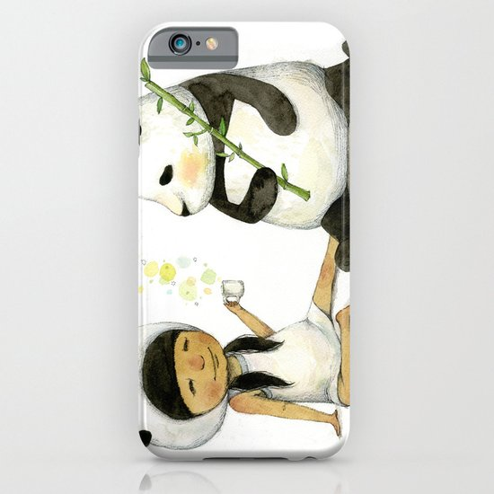 Tea Time with Panda  iPhone & iPod Case