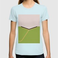 James T Kirk - Minimalis… Womens Fitted Tee Light Blue SMALL