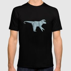 Origami Monkey Black SMALL Mens Fitted Tee