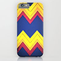 iPhone & iPod Case featuring Super Hero Chevron by Caleb Troy