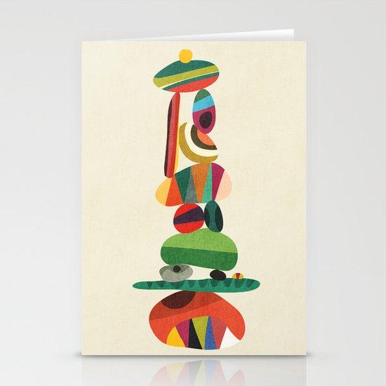 Totem - balanced pebbles Stationery Card