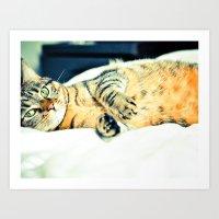 Кошка Art Print