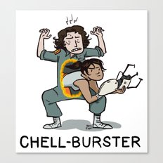 Chell Burster Canvas Print