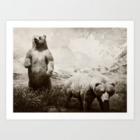 Brother Bears Art Print