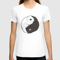 Yin & Yang Womens Fitted Tee White SMALL