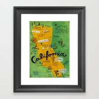 Postcard From California Framed Art Print