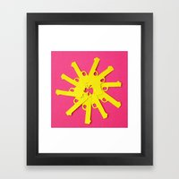 Gun Flower on Pink Framed Art Print