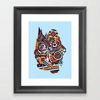 EL BARTO ~ BLUE Framed Art Print