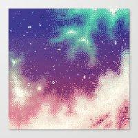Rainbow Nebula (8bit) Canvas Print