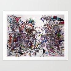 Mess Art Print