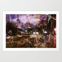 Double Exposure Art Art Print
