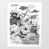 Cycloptic Samurai Art Print